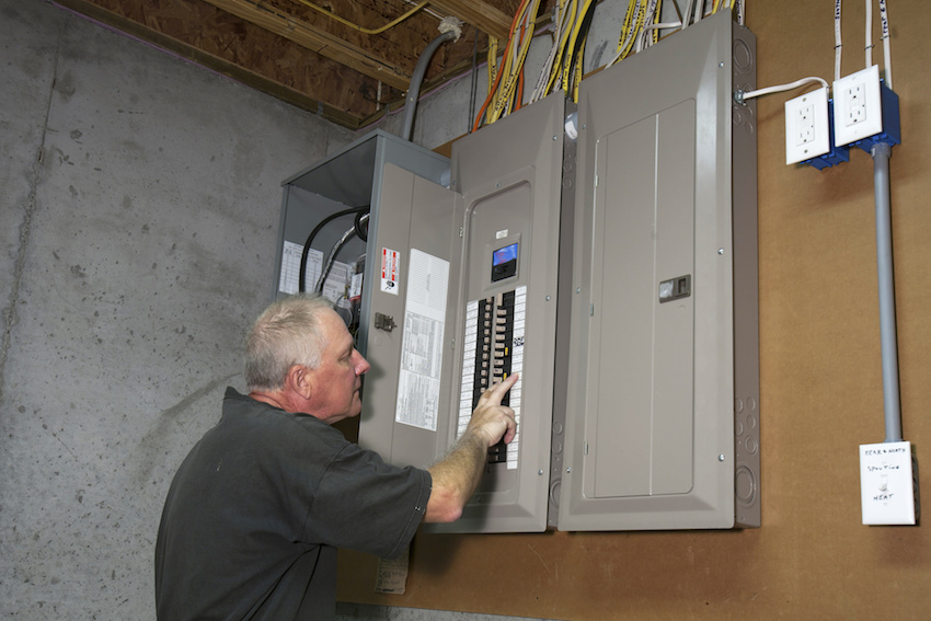 residential electrical panel, preventing electrical shock